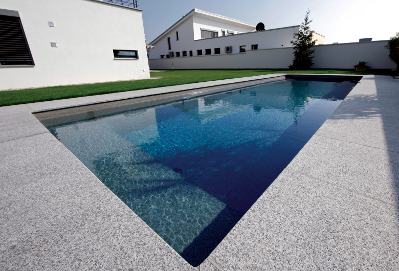 Flamed granite tiles melbourne pav tile co for Aquacouleur piscine