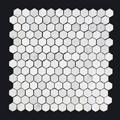 Thassos Penny Round-150x150 - Pavé Tile Co