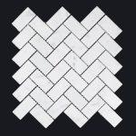 CARRARA HERRINGBONE MED-150x150 - Pavé Tile Co