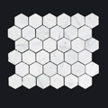 Carrara hexagon 25mm-150x150 - Pavé Tile Co