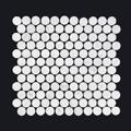 Carrara Penny Round-150x150 - Pavé Tile Co