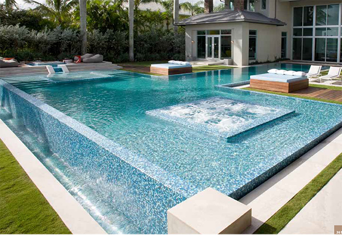 Pool tiles melbourne ceramic pool tiles pav tile co for Italian pool design 7