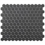 Black Unglazed 25mm-150x150 - Pavé Tile Co