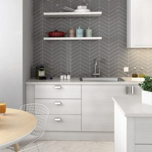 chevron contrast grout