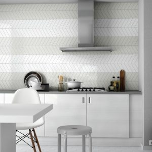 chevron kitchen splashback