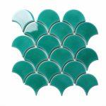 green crackle fan