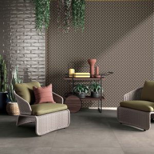 BASE TAUPE 80X80 + WIDE&STYLE LIBERTY LIME 120X240 + CROSSROAD BRICK SMOKE 7,5X30