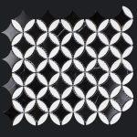 NERO MARQUINA & THASSOS CLOVER-150x150 - Pavé Tile Co