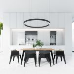 circular-pendant-light-greenery-vase-black-and-white-dining-room-150x150 - Pavé Tile Co