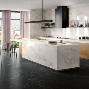 PAN-eternity-marquinablack-soft-6mm-arabesquepearl-lux-6mm-kitchen-001-150x150 - Pavé Tile Co
